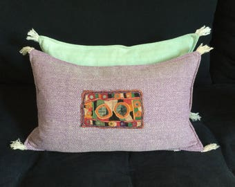 In khadi cotton with embroidery Cushion cover