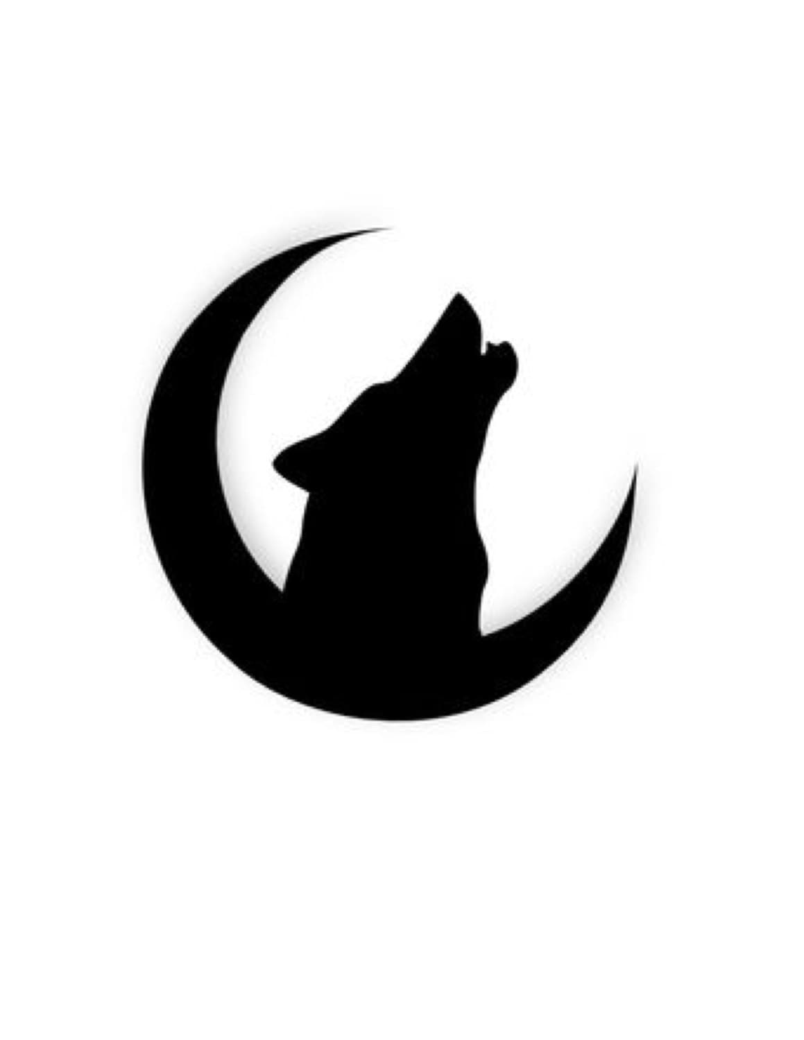 Pack Of 3 Wolf On Moon Stencils Made From 4 Ply Mat Board