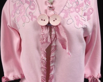 Sweatshirt Jacket Breast Cancer Awareness Pink Ladies Jacket