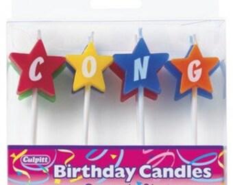 8 Congrats Stars Candles