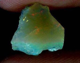 4.05Ct Natural Ethiopian Welo Opal Rough Specimen Rainbow Flash Gemstones (ID-PG-81906)
