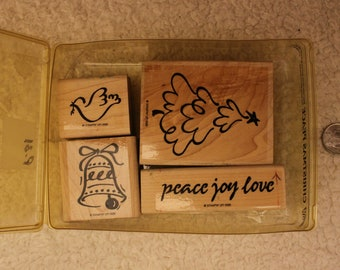 Christmas Peace Stampin' Up 1995 (Set of 4)