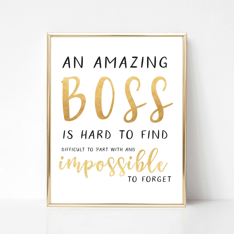 Digital Boss Quote Gift Best Boss Quote Gift Boss