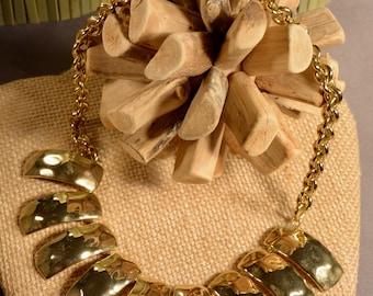 Goldtone Claw Necklace