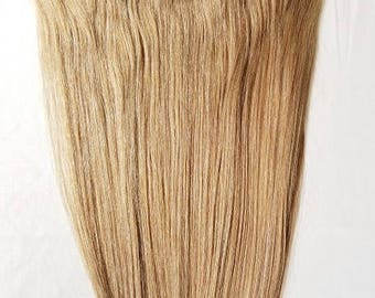 """20"""" Weft Hair, 100grs,Weft Weaving (Without Clips),100% Human Hair Extensions #18 Dark Blonde"""
