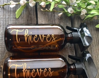 Thieves Cleaner 16 oz amber glass spray bottle