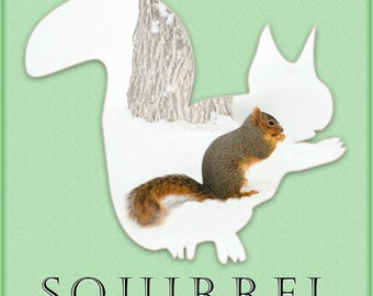 """12"""" x 12"""" Squirrel Wall Art"""