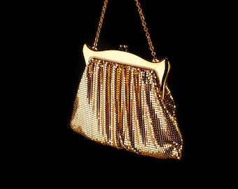 Whiting and Davis Gold Mesh Evening Bag, 1940s/50s