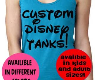 Disney tank top, Disney family shirts, Disney shirts, matching Disney tank, Mickey shirt, Disney vacation shirts