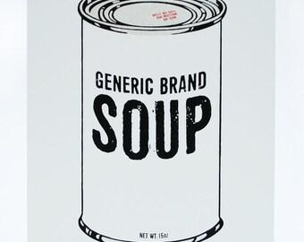 Generic Brand Soup Serigraph