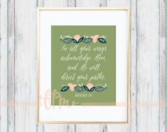 Proverbs 3:6 Print