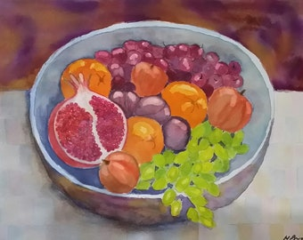 Ceramic Bowl With Fruit