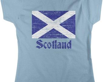 Flag of Scotland, Scottish Flag, Saltire Women's T-shirt, NOFO_00018