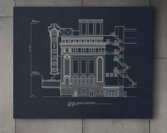 Canvas Wrap - Chicago Theatre Blueprint