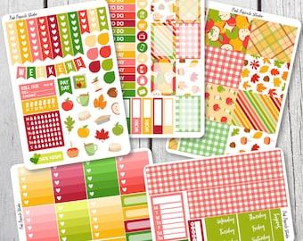 Apple Picking Deluxe Weekly Kit Planner Stickers Designed for Erin Condren Life Planner Vertical