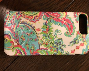 Lilly Pulitzer inspired iPhone 7 Plus case with liner
