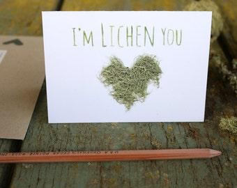 I'm LICHEN you! Lichen Love Card