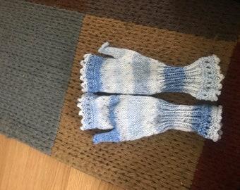 handmade knitted gloves