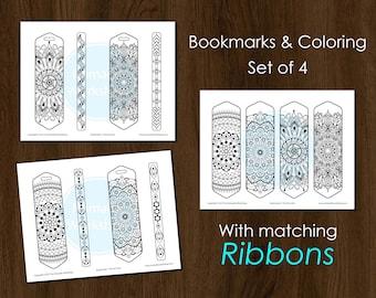Bookmark Coloring Mandala Bookmark Custom bookmark Printable bookmark Color Bookmark Book Accessories Bookmark Personalized Bookmark Set