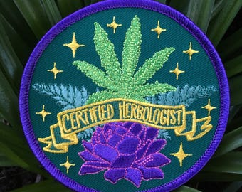 CERTIFIED HERBOLOGIST patch