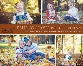 Photography Falling Leaves Overlays, Fall Photo Overlays, INSTANT DOWNLOAD
