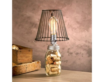 Accent lamps etsy mason jar lamp kit light diy mason jar lamp lighting for regular aloadofball Choice Image