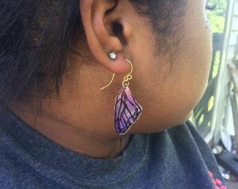 Recycled DVD Butterfly Earrings