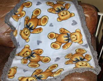 Teddy Bear Baby, Toddler Blanket