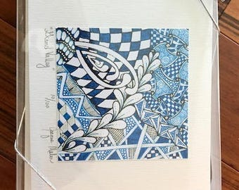 Limited Edition Zentangle Inspired Art Note Cards