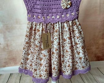 Crochet dress and fabric for girl
