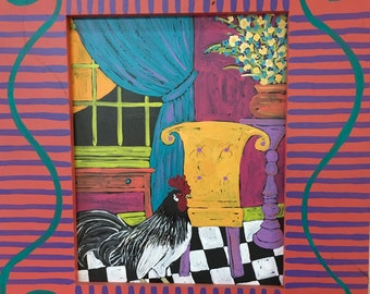 Rooster in living room