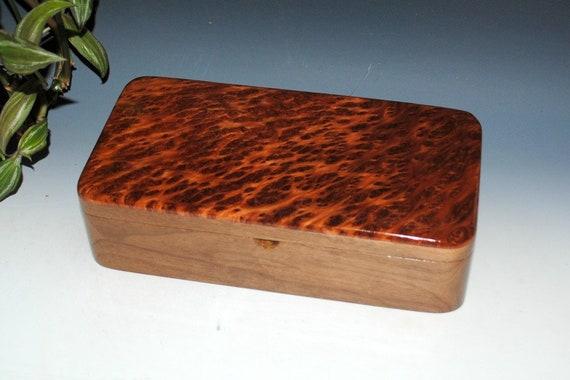 Handmade Wood Box With a Tray - Redwood Burl on Walnut - Great Guy Choice - Jewelry Box, Stash Box, Burl  Jewelry Box, Jewelry Boxes Wooden