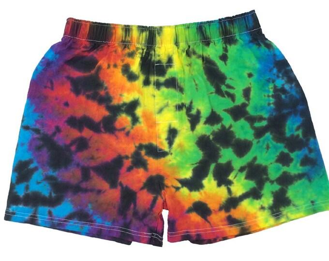 Tie Dye Boxer - Crinkle Rainbow