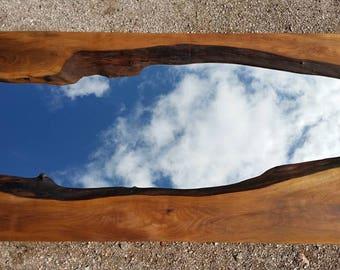 Wood Mirror - Wooden Rustic Mirror