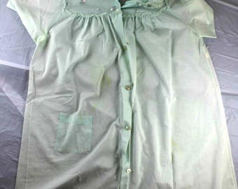 Unbranded sz S Vintage Short Sleeve Button Down nightgown robe