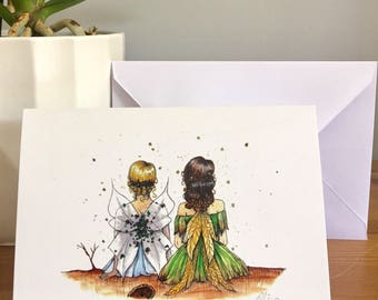 Best friend fairy greetings card