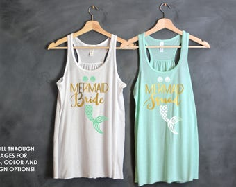 Brides Mermaid, Bachelorette Party Shirts, Mermaid of Honor, Bridesmaid Shirts, Mermaid Shirt, Last Sail before The Veil, I Do Crew, Squad