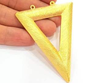 Triangle Pendant Gold Pendant Gold Plated Triangle Pendant (76x63mm)  G7246