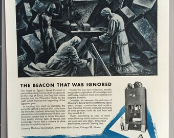 1944 Clearing Machine Corporation - Mechanical and Hydraulic Presses  - WWII Era