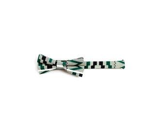 Ankara Bow Tie - Benóla Crystale (Tribal Zebra Men's bow tie)