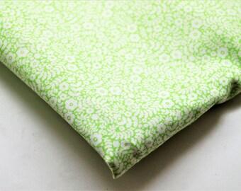 Coupon 0,80 mètre, tissu coton Leonard vert Liberty, Life style, laize 112 cm