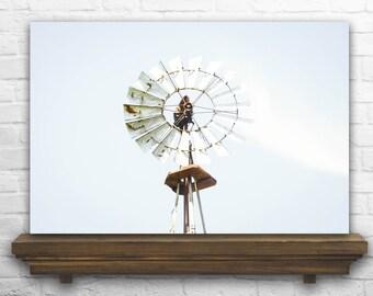 Windmill Photography - Windmill Photo - Windmill Decor - Windmill Decoration - Windmill Print - Aged Photography - Farmhouse Home Decor