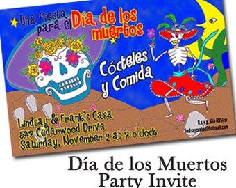 "Dia de los Muertos Party Invitation - 8.5"" X 5.5""  - Qty. 100"