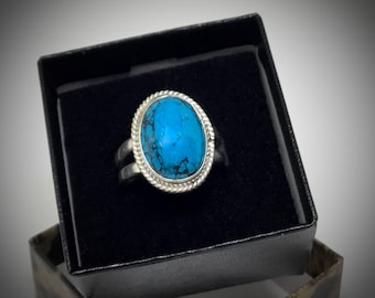 18 x 13mm Turquoise Cabachon Ring