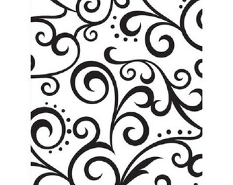 "Embossing Folder SCROLL EMBOSSING Folder 4.25"" by 5.75""  Darice A2 DIY Handmade Personalized Cards Make Custom Handmade Cards and Scrapbooks"