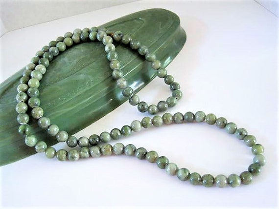 Fine Connemara Marble  Beads, Irish Bead Necklace, Continuous Strand, Made in Ireland