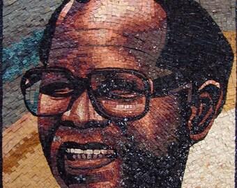 Figure Portrait Marble Mosaic