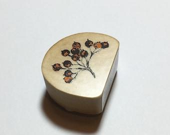 Kodomo no kao rubberstamp berries // Rubberstamp from Japan // Japanese stationery design