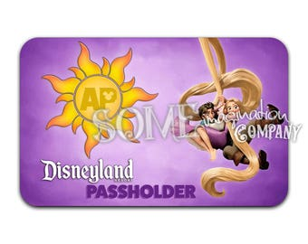 Rapunzel and Flynn Disneyland Passholder Sticker