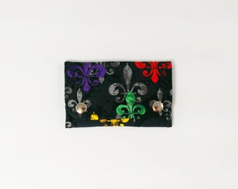 Fleur De Lis Wallet business card holder slim wallet women minimalist wallet louisiana gift under 15 quick shipping new orleans vegan wallet